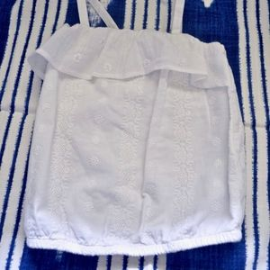 Toddler Girls Patterned White Tank (NWOT)